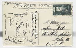 MERMOZ 30C SEUL CARTE  5 MOTS LILLE 5.6.1937 POUR PRAGUE AU TARIF - 1921-1960: Modern Period