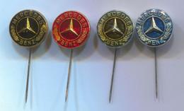 MERCEDES BENZ - Car, Auto, Automotive, Vintage Pin, Badge, Abzeichen, 4 Pcs - Mercedes