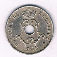 25 CENTIMES 1908 FR    BELGIE /4263/ - 05. 25 Centimes