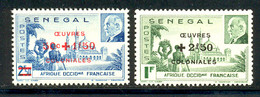 Senegal 1944 Yvert 187 / 188 ** TB Bord De Feuille - Unused Stamps
