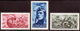 Slovaquie 1943 Yvert 87 / 89 ** TB Bord De Feuille - Unused Stamps
