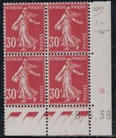 SEMEUSE - N°360 - BLOC DE 4 - COIN DATE  - 9-6-1938 - SANS TRACE CHARNIERE - COTE 7€ . - ....-1929