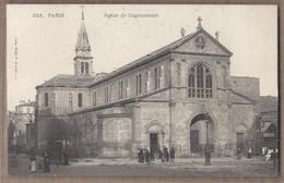 CPA 75 - PARIS - Eglise De Clignancourt - TB PLAN EDIFICE RELIGIEUX Avec Jolie ANIMATION Devant + MAGASIN BROCANTEUR - Paris (18)