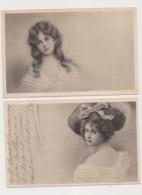 2 Cartes Signées J.Salmony / Jeune Femme - Other Illustrators