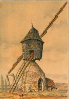 Moulin à Vent Près De Vouvray  / CP 9X14 Cm - Carte Barday Barré Dayez 2913Z Illustrateur - Vouvray