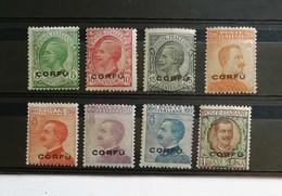 Corfù 1923 S.30 8 Valori Completa ** - Corfu
