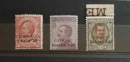 Corfù 1923 S.31 3 Valori Completa ** - Corfu