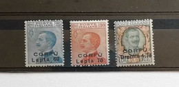 Corfù 1923 S.32 Non Emessi ** - Corfù
