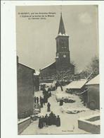 01 - SAINT BENOIT - Par Les Grandes Neiges L'eglise Et La Sortie De La Messe 4 Fevrier 1912  Animé Bon Etat - Otros Municipios