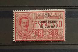 Dalmazia 1922 Espresso 1 Soprastampa Cent. 25 ** - Dalmatia