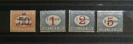 Dalmazia 1922 Segnatasse S.2 4 Valori Completa ** - Dalmatia