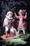 ► Chromo  Couple Cloche De Jardin Jouet Toy Teddy Bear  Nounours - Otros