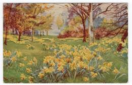 KEW GARDENS IN SPRING TIME - Tuck Oilette 3647 - Artist M. Townsend - Oilfacsim - Surrey