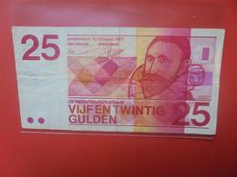 PAYS-BAS 25 GULDEN 1971 Circuler (B.23) - 25 Gulden
