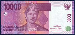 INDONESIA - INDONÉSIE - INDONESIEN 10000 RUPIAH P-143a SULTAN MAHMUD BADARUDDUN - RUMAH HOUSES 2005 UNC - Indonesien