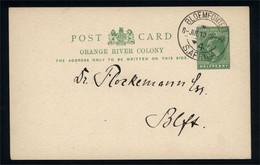Orange River Colony - King Edward VII - Stationary Post Card 8 JUL 1912 - Africa (Other)