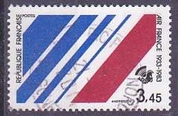 """Timbre De France De  1983 50è Anniversaire De La Création De La Compagnie Air-France """" Logo D'Air-France """" Tp Oblitéré - Gebruikt"""