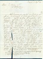 RARE Greece 1845 Prephilatelic Cover To Alexandria Egypt J. Sonino - Letter TEAR - ...-1861 Prephilately