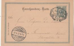 Autriche Entier Postal Carte Cachet MERAN 13/4/1902 Pour Berlin Allemagne - Enteros Postales
