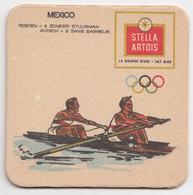 Aviron Mexico 68 Olympique Olympic Games Stella Artois Ancien Sous-bock Coaster - Beer Mats