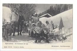 27264 - Sport D'hiver Un Concours De Luge Schlittenrennen - Wintersport