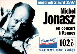REF 556 : CPM Publicité Cartcom Rennes Europe 2 Michel Jonasz - Advertising