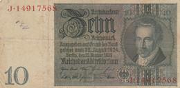 BANCONOTA GERMANIA WEIMAR 10 VF (HB852 - 10 Mark