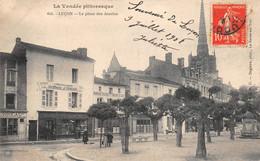 """¤¤  -  LUCON   -  La Place Des Acacias   -  Imprimerie """" J. BURGAUD """"     -   ¤¤ - Lucon"""