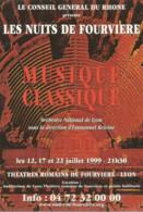 F105 / CARTE Publicitaire  Advertising Card Cart' Com CPM Cartcom Musique  FOURVIERE BERLIOZ RAVEL SAINT-SAENS - Muziek En Musicus