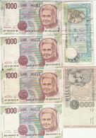 LOT 6 BANCONOTE ITALIA 500/1000 VF (HB506 - Otros