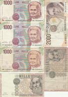 LOT 6 BANCONOTE ITALIA 2000/1000 VF (HB509 - Otros