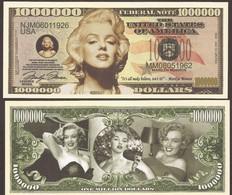 Fantasy Note 1.000.000 Dollars - Marilyn Monroe - Other - America