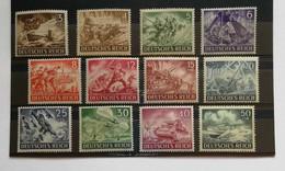 Deutsches Reich 1943 Giornata Degli Eroi 12 Valori Completa ** - Unused Stamps