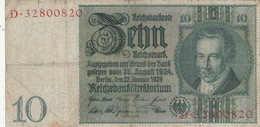 BANCONOTA GERMANIA WEIMAR 10 VF (HB853 - 10 Mark