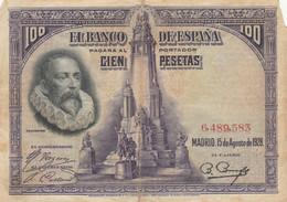 BANCONOTA SPAGNA 1928 100 F (HB833 - 100 Pesetas