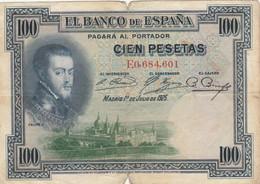 BANCONOTA SPAGNA 1928 100 F (HB844 - 100 Pesetas