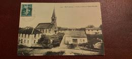 Ancienne Carte Postale - écot - L'eglise,la Mairie Et Café Pelier - Sonstige Gemeinden