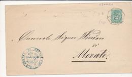 1883 OSNAGO OTTAGONALE DI COLLETTORIA RURALE X MERATE - Marcophilie