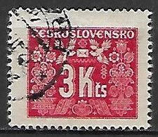 TCHECOSLOVAQUIE    -   Timbre-Taxe  -   1946.   Y&T N° 76 Oblitéré - Timbres-taxe