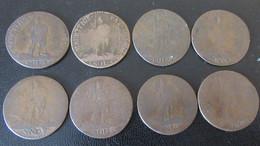 Maurice / Mauritius - 8 Monnaies De 5 Sols 1795 Et 1796 - Etats B à TB - Mauritius