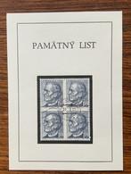 Ceskoslovensko Commemorative Card Hlinka Pamatny List 1991 - Brieven En Documenten