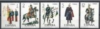 ESPAÑA 1978 - UNIFORMES MILITARES - Edifil  2451-55 - Yvert 2096-2100 - 1971-80 Unused Stamps