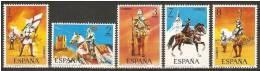 ESPAÑA 1973 UNIFORMES MILITARES (1ª SERIE) - EDIFIL Nº 2139-2143 - YVERT Nº 1793-1797 - 1971-80 Unused Stamps