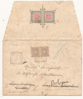 1899 MERCATALE PESARO TONDO RIQUADRATO SU BELLA BUSTA CON INIZIALI XLIZZANO IN BELVEDERE TONDO RIQUADRATO - Marcofilía
