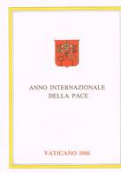 VATICAN 1986 - 1987 : Deux Documents De Luxe - Année Mariale Et Année De La Paix. Jean-Paul II. - Papas
