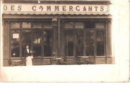 FR34 BEZIERS - Carte Photo - Devanture Café Des Commerçants - Animée - Belle - Beziers