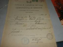 DOCUMENTO 1937 COMUNE DI CASTIGLIONE DEL LAGO CON MARCA DA BOLLO MUNICIPALE - Documenti Storici