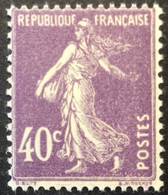 236 - 3 ** Variété Main Impression Effacée Semeuse 40c Violet Neuf ** - 1906-38 Semeuse Camée