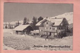 OUDE UITKLAP BROCHURE  - ZWITSERLAND -     FERIEN IM PARSENNGEBIET - KLOSTERS - GR Grisons