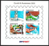ZIMBABWE 2021 COVID-19 AWARENESS IMPERF Souvenir Sheet - Disease